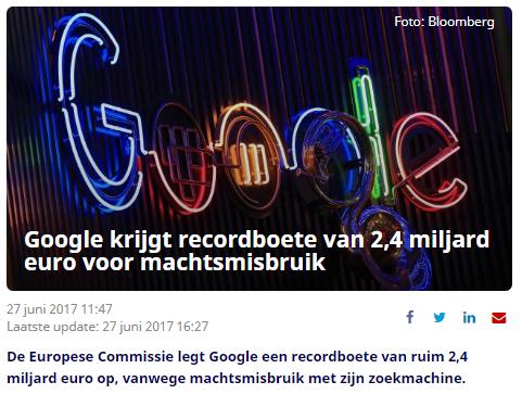 Google boete